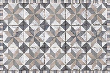 Tapis Interieur Extérieur En Vinyle Carreaux De Ciment