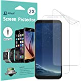 Galaxy S8 Screen Protector, [Full Coverage], JETech SOFTOUGH 2-Pack TPE Ultra HD Screen Protector Film for Samsung Galaxy S8