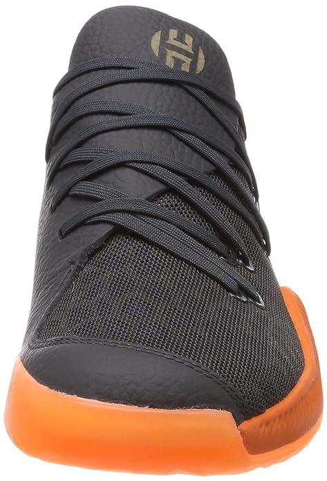 adidas Harden B/e, Scarpe da Basket Uomo, Grigio (Carbon/Azalre/Roalre 000), 45 1/3 EU