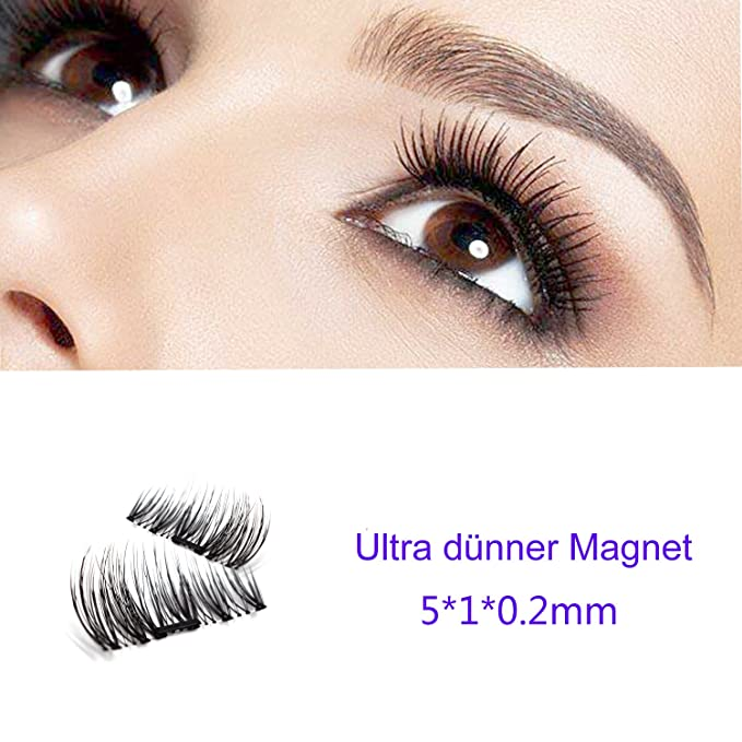 NUEVO magnética pestañas postizas Ultra Thin 3d de fibra reutilizables mejor falso pestañas Extension para la natural, perfecto para tiefliegende Ojos ...