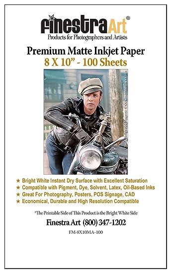 Amazon.com: 8 x 10 – 100 hojas de papel fotográfico Premium ...
