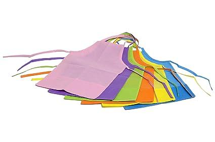 HomeStrap Non Woven Multi-Color Kid's Apron- Pack of 12