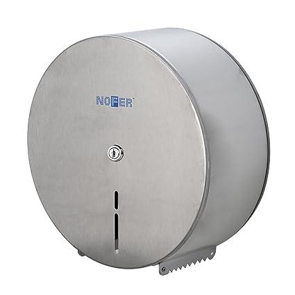 Nofer 05001.s dispensador de Papel higiénico 230 Inoxidable Satinado Plata 12 x 25 x 26,5 cm: Amazon.es: Hogar
