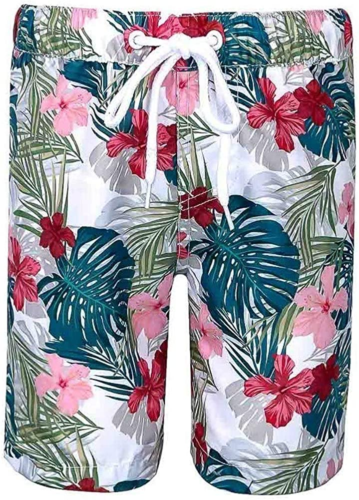 Sun Emporium Baby Boys Multi Color Havana Print Board Shorts 6-18M