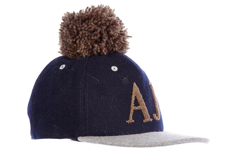 Armani Jeans sombrero de hombre en lana nuevo pon pon blu: Amazon ...