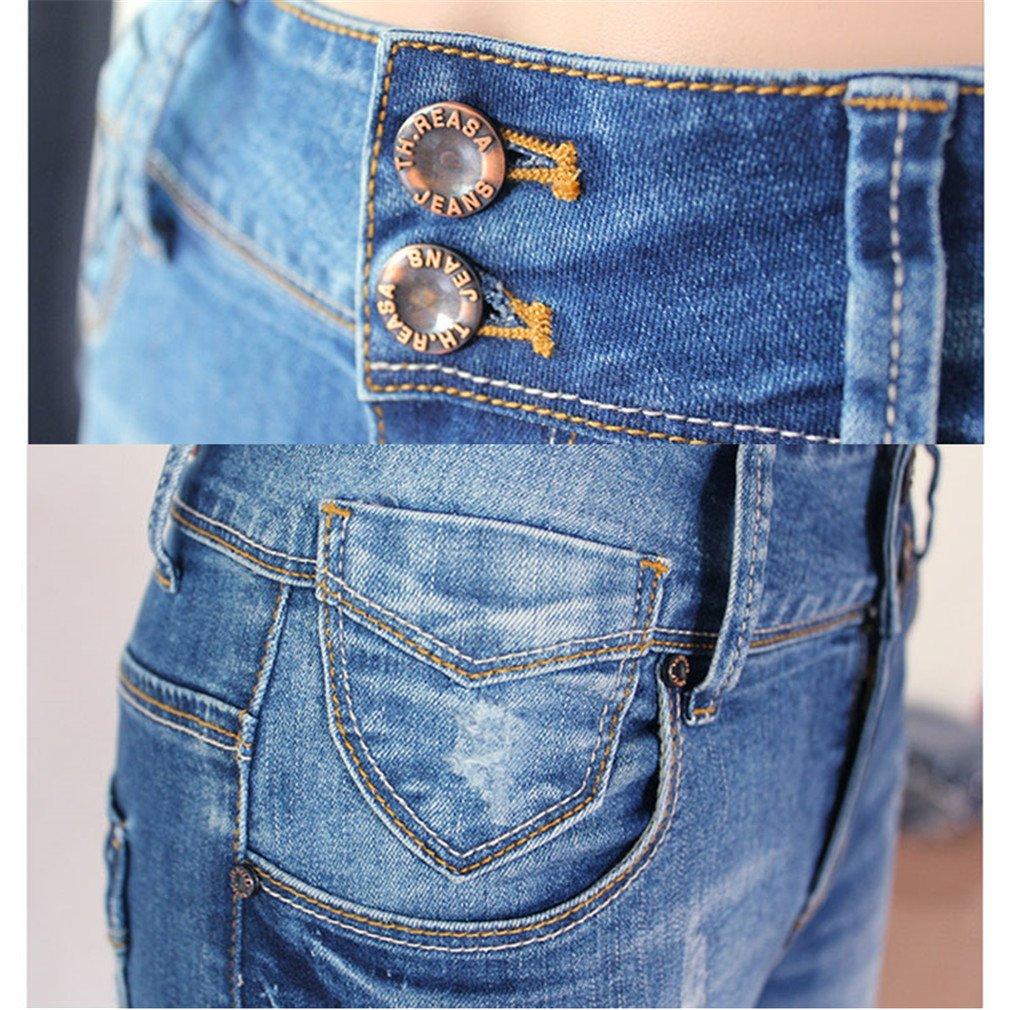 Skinny Jeans classique qui s étend des Femmes avec crayon élastique  élastique Jeans Femme Pantalon Slim mince crayon étroit  Amazon.fr   Vêtements et ... 6db0503c249a