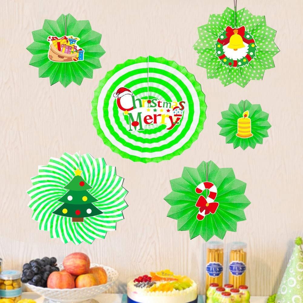 YWLINK Abanicos,6 Piezas De Bricolaje Fiesta De Navidad ...