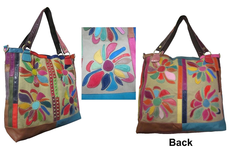 Amazon.com: amerileather Mujer Rosalie Leather bolsa Bag ...