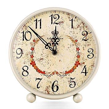 Escritorio Reloj Sala de Estar Mudo Europeo Decoración Creativa Diadema Reloj electrónico: Amazon.es: Hogar