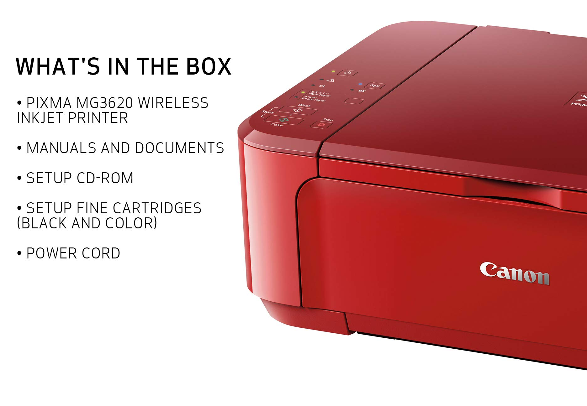 Canon PIXMA MG3620 Wireless All-In-One Color Inkjet Printer with Mobile and Tablet Printing, Red by Canon (Image #4)