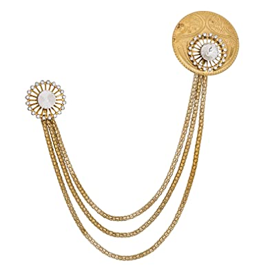 2b2d1182b12 Image Unavailable. Image not available for. Colour: The Luxor Gold Plated  Alloy Saree Brooch ...