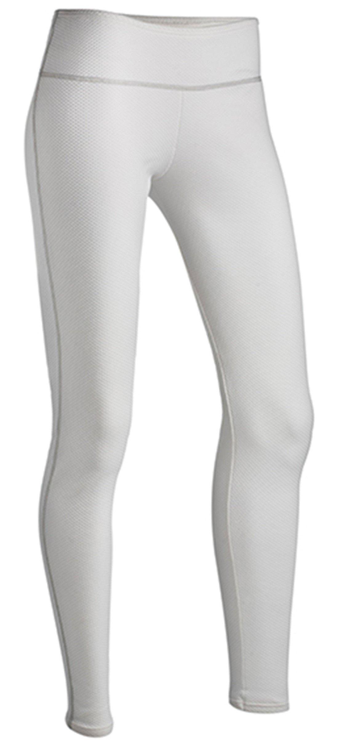 ColdPruf Women's Honeycomb Base Layer Leggings, White, Medium