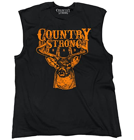 Brisco Brands Country Strong Deer Hunting Western Cowboy Sleeveless