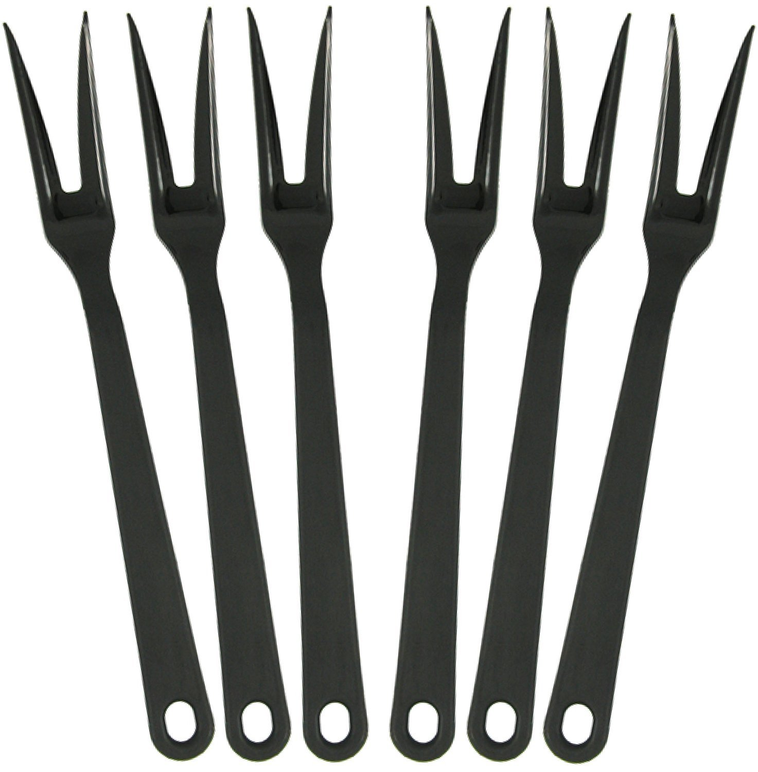 Tailor Made Products Nylon Meat Fork, Pack of 6, Black