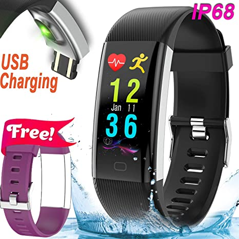 IP67 Fitness Tracker Smart Watch with Heart Rate Blood Pressure Monitor Activity Tracker Smart Wristband Sleep