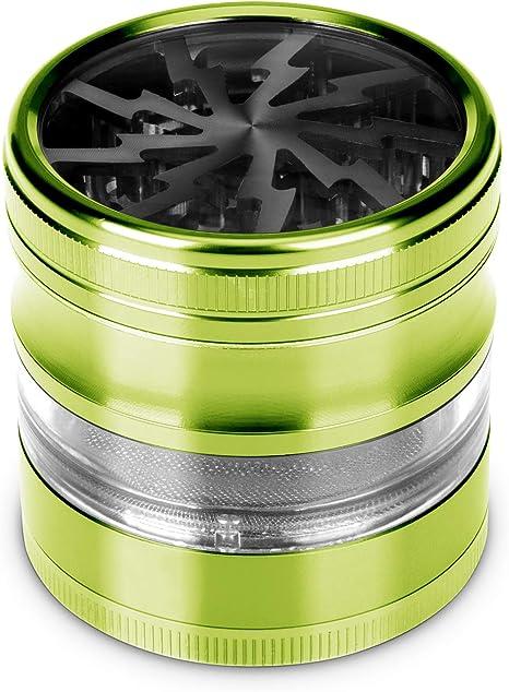 High Quality Pocket Grinder with Leaf Design Stainless Steel Tobacco Grinder