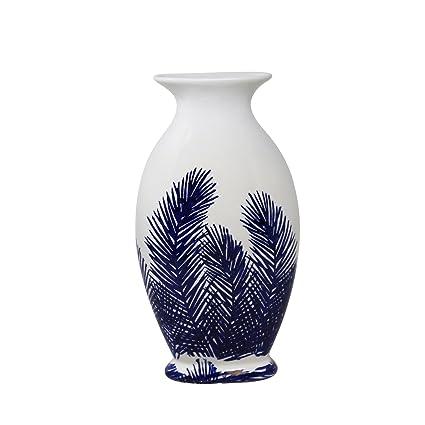 Amazon.com: Reluciente helecho decorativo de cerámica jarrón ...