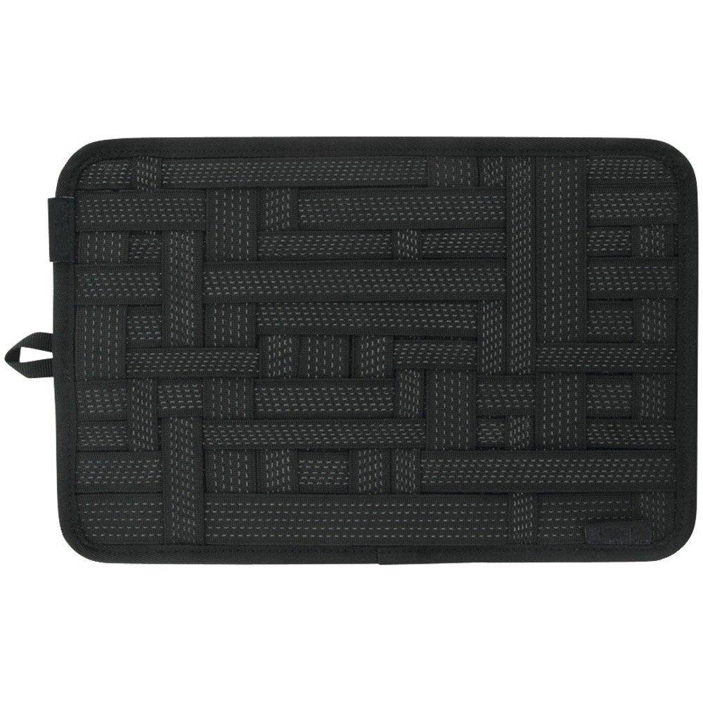 [Bamboo] Sistema Organización Accessori Funda 31 x 21 x 0.5cm para iPod, iPhone, Blackberry and Other Digital Devices,Negro