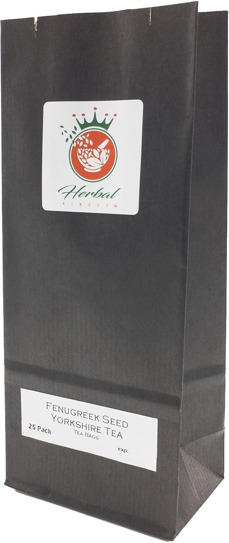 Semillas de Fenogreco Orgánico y té de Yorkshire bolsas de té de hierbas (paquete de 25, sin blanquear): Amazon.es: Alimentación y bebidas