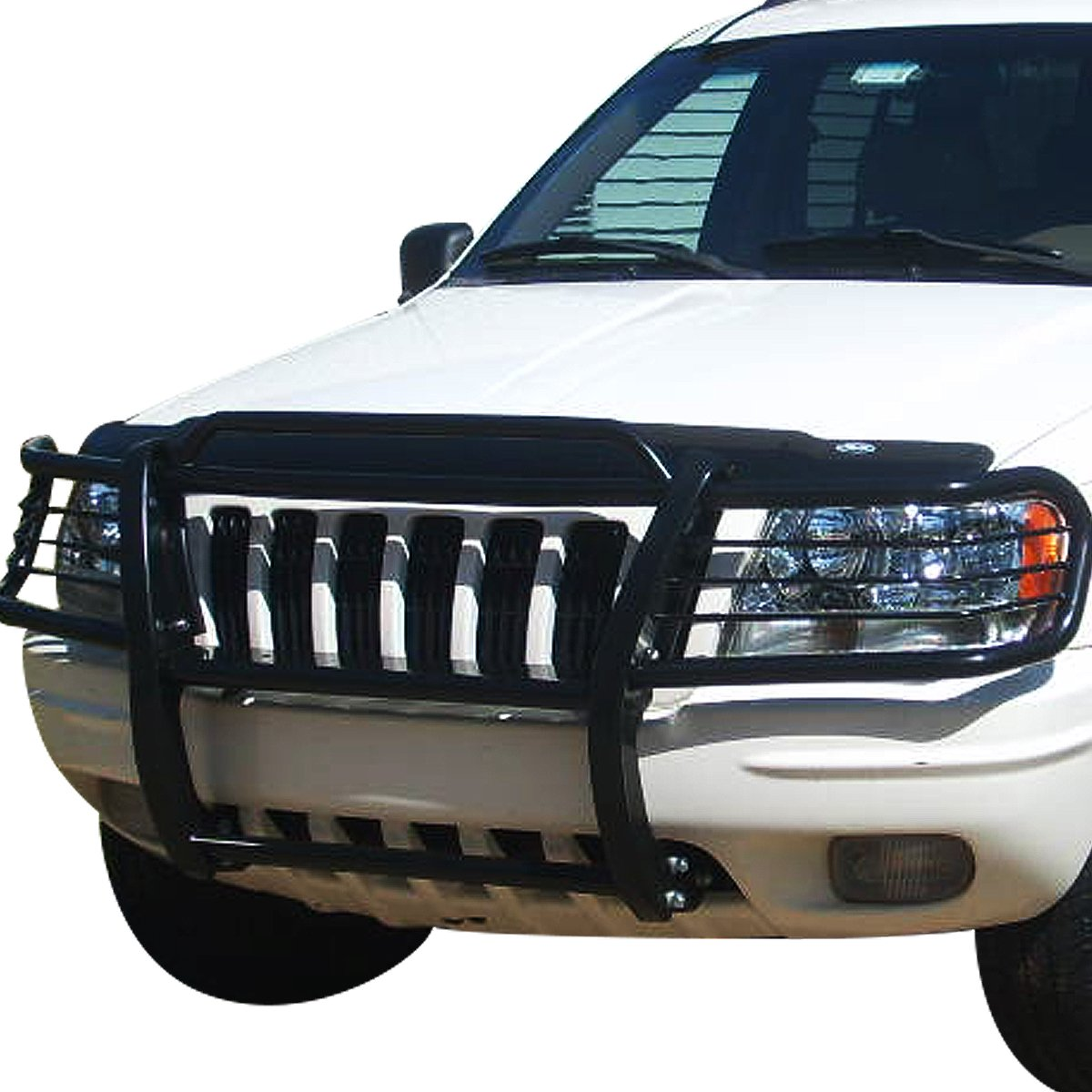 For Jeep Grand Cherokee WJ Front Bumper Protector Brush Grille Guard Black