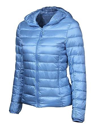 Sarin Mathews Women's Packable Light Weight Down Coat Short ...