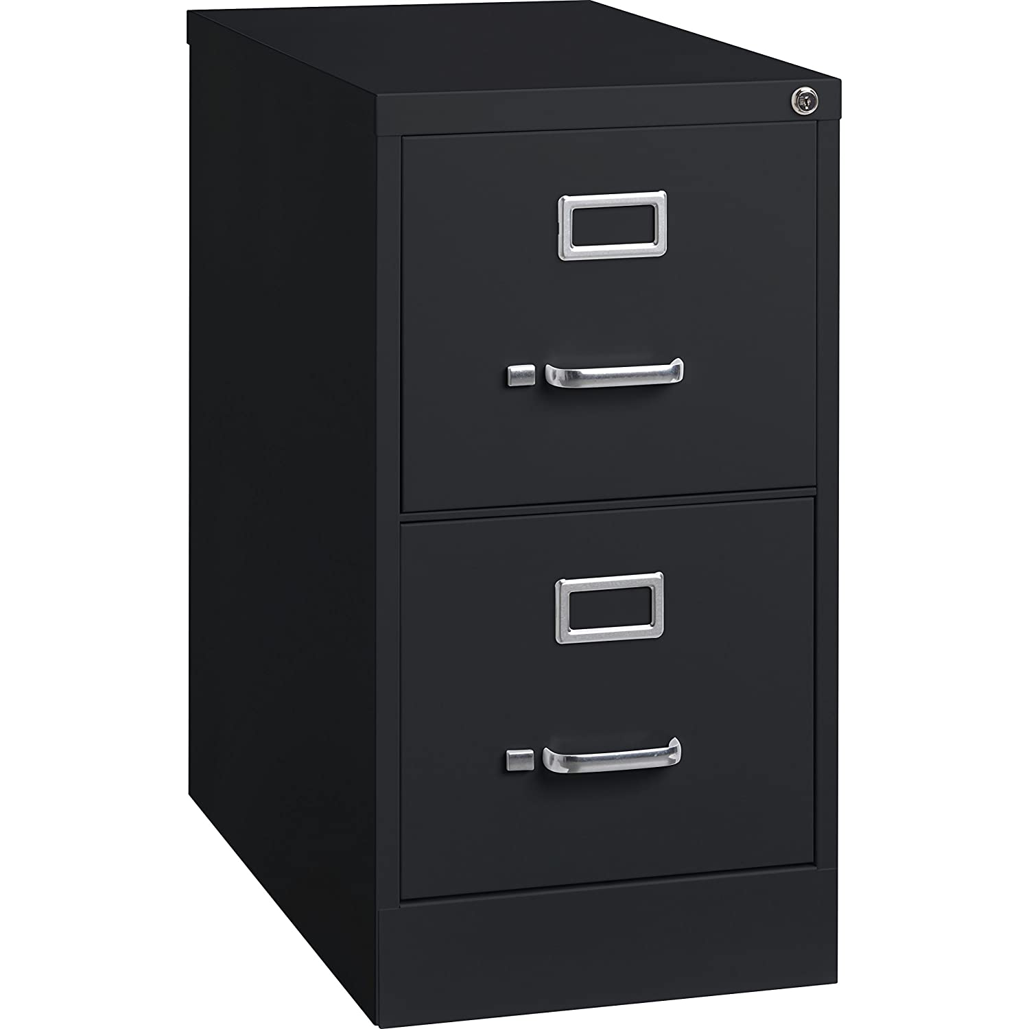 Lorell 2-Drawer Vertical File with Lock, 15 by 25 by 28-3/8-Inch, Black S.P. Richards Company LLR60653