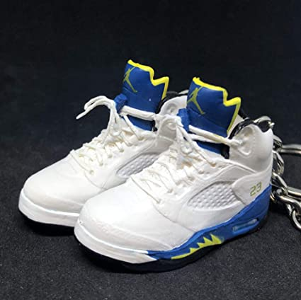 online store 1b5fe 5e562 Amazon.com : Pair Air Jordan V 5 Retro Laney Royal Blue OG ...