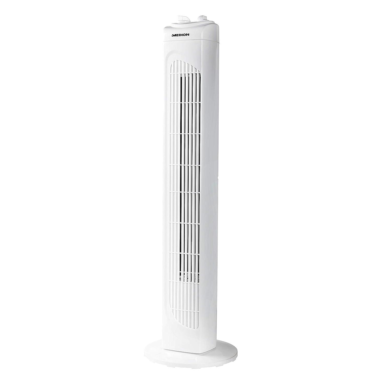 49 dBA Ventilateur colonne int/érieur 78 cm volume max blanc. ventilateur de sol oscillant /à 3 niveaux ventilateur de sol oscillant 45 W