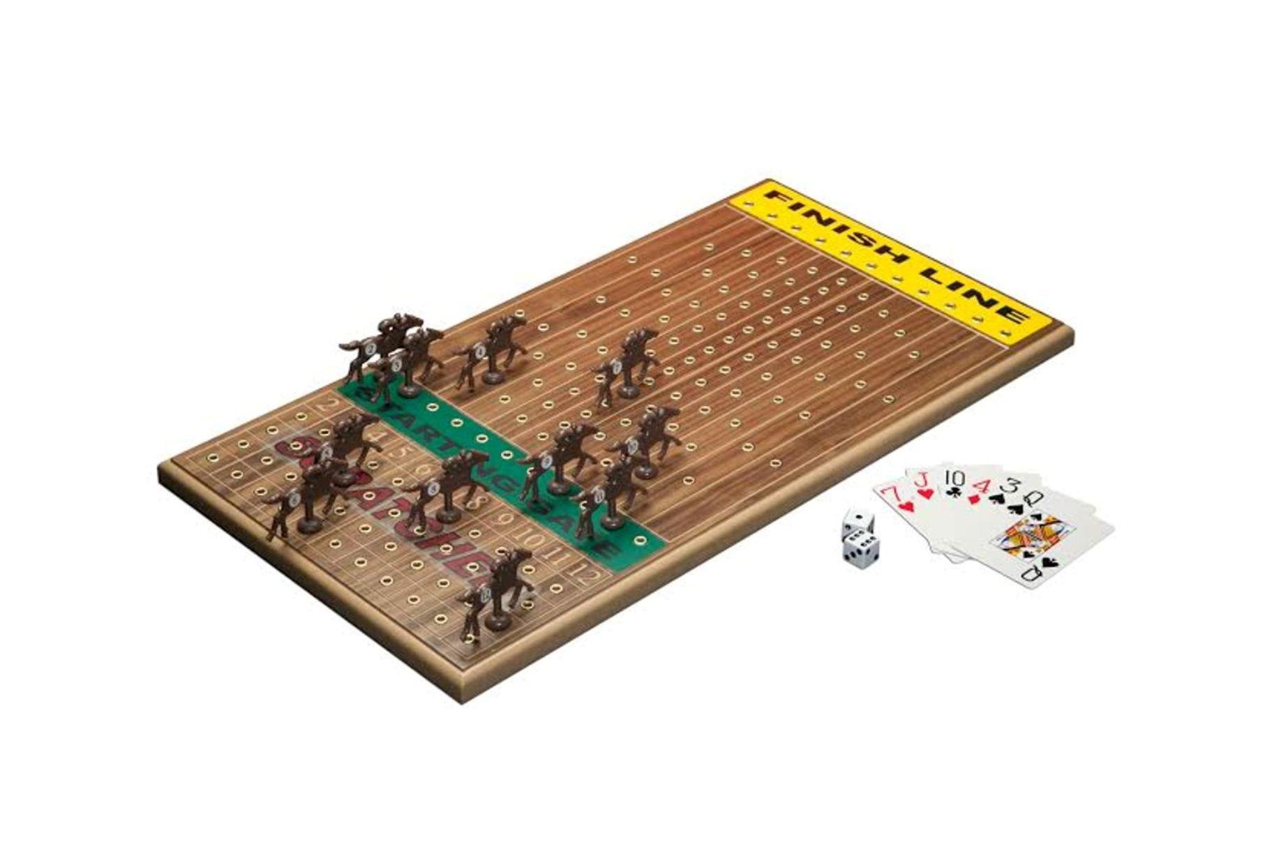 Across The Board Horseracing Gametop, Walnut by Across The Board (Image #1)