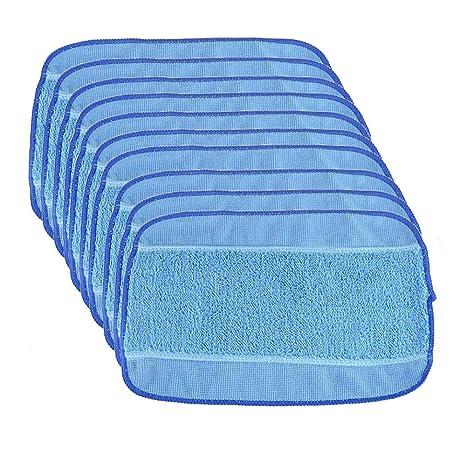 10/en seco para iRobot Braava 380/380T 320/Mint 4200/4205/5200/5200/C followhe tipo 20/Pack microfibra lavado Mopping pa/ños 10/Wet