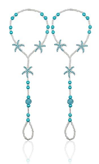 83601550ca174 Bienvenu 2pcs Pearl Ankle Chain Bracelet Beach Wedding Foot Jewelry  Barefoot Sandal Anklet Chain