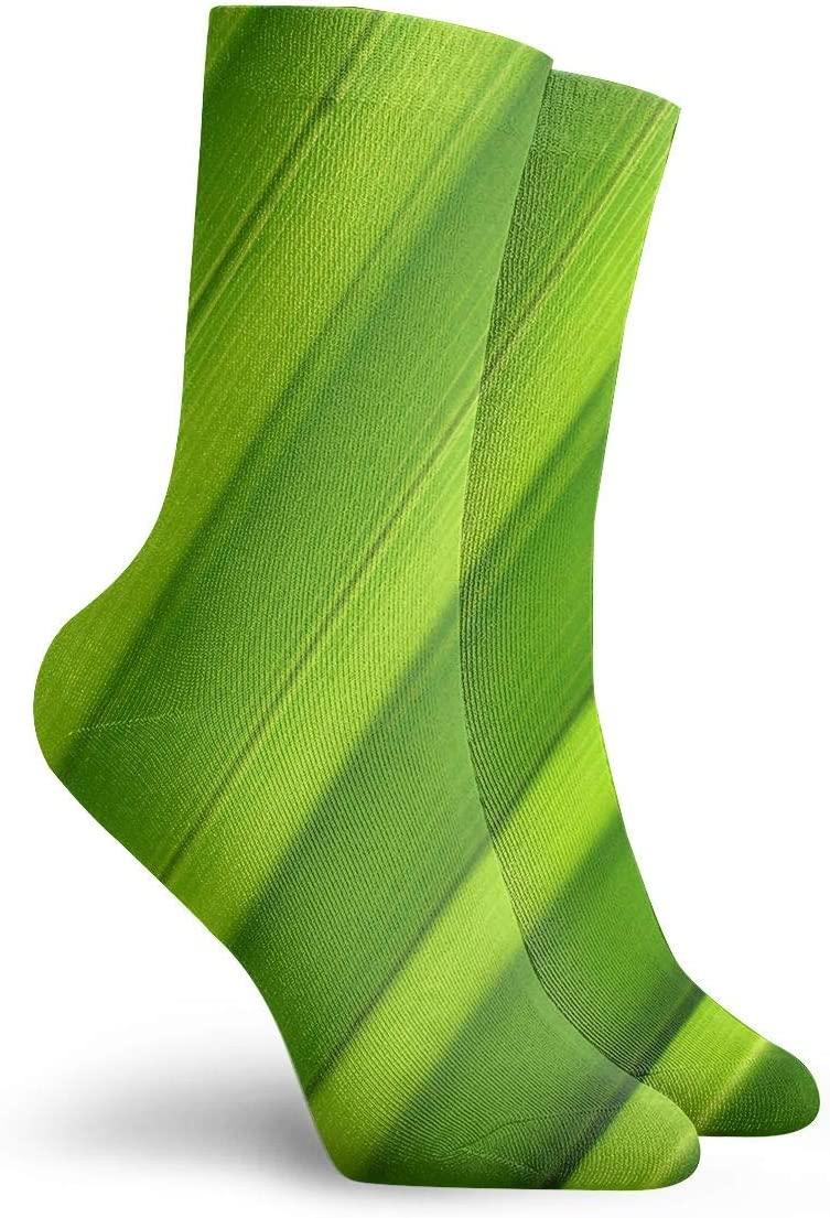 WEEDKEYCAT Nature Grass-Blade Plant Texture Adult Short Socks Cotton Sports Socks for Mens Womens Yoga Hiking Cycling Running Soccer Sports