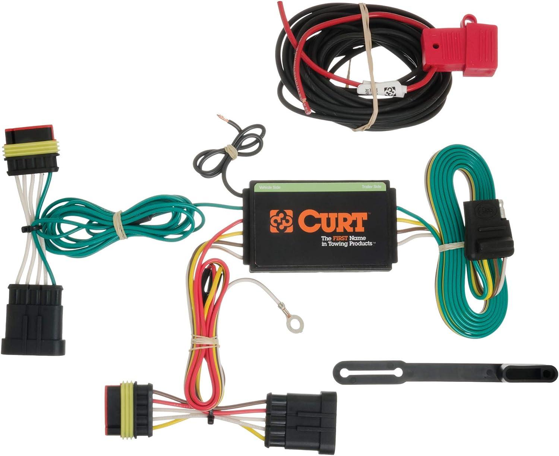 Amazon.com: CURT 56174 Vehicle-Side Custom 4-Pin Trailer Wiring Harness for  Select Fiat 500: AutomotiveAmazon.com