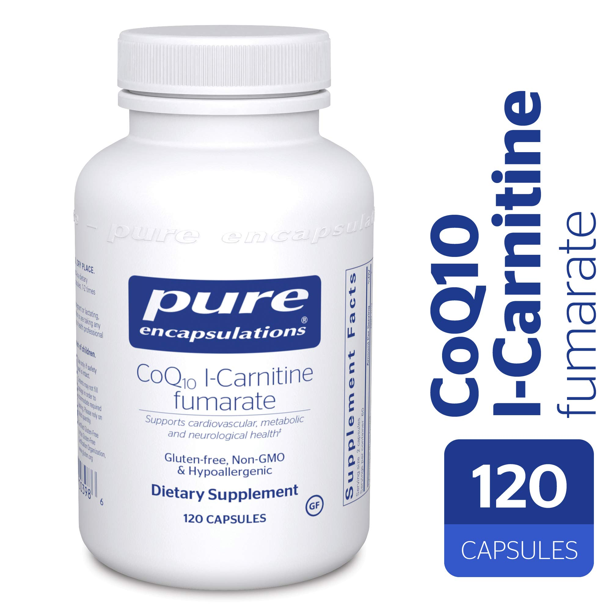 Pure Encapsulations - CoQ10 l-Carnitine Fumarate - Ultra-Charged Cardiovascular Support* - 120 Capsules by Pure Encapsulations