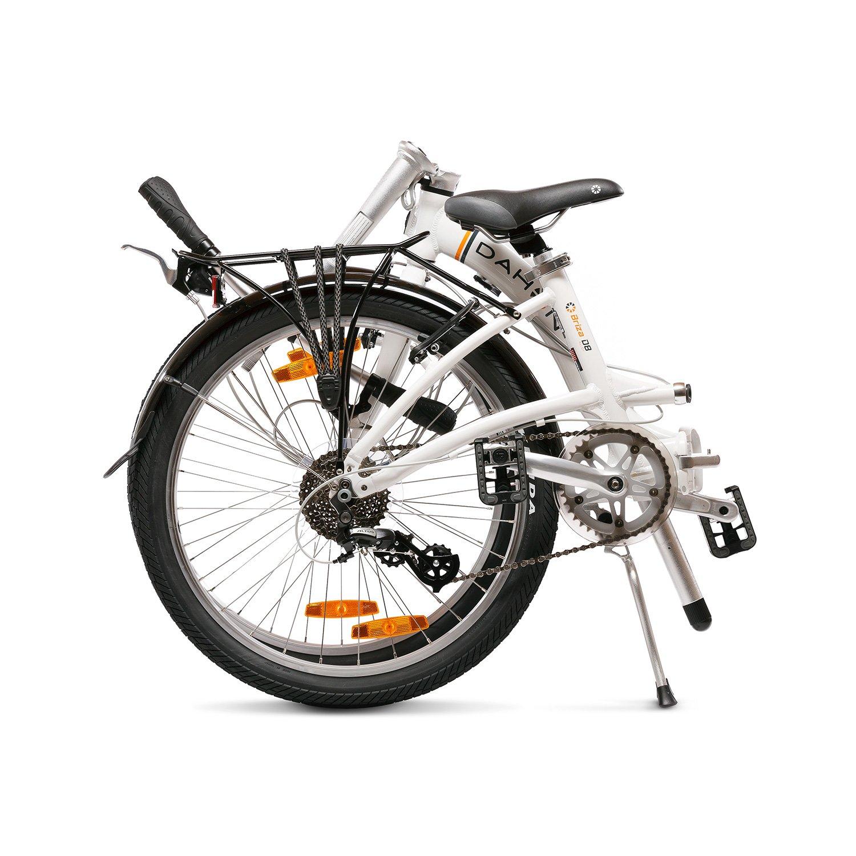 Dahon Briza D8 Bicicleta Plegable, Unisex Adulto, Blanco Frost, 24