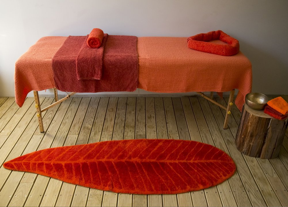 Abyss & Habidecor.- Badematte Feuille 65x185 cm, farbe7 725 ROT