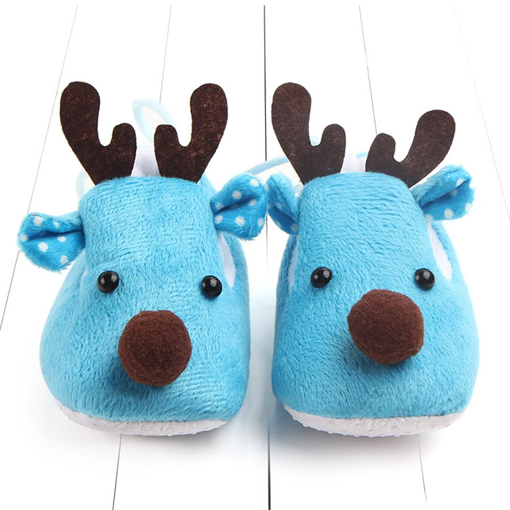 Infant Baby Shoes,Toddler Boy Girl Christmas Deer Crib Shoes Soft Sole Anti-Slip Sneakers