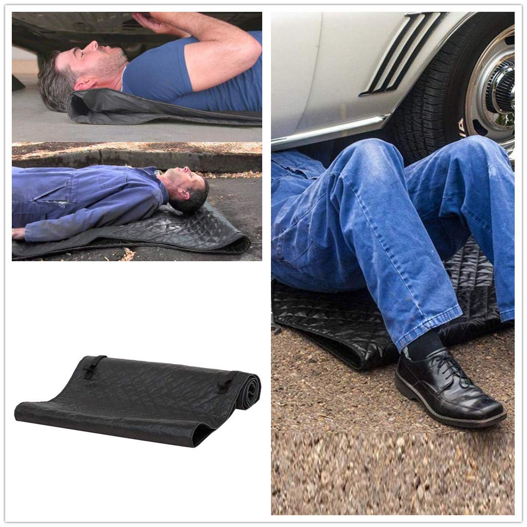 Creeper Pad,Lr&Br Clearance Black Magic Automotive Creepers Mat Repair Creepers Rolling Pad for Car Repair Zero Ground Working 27.5x59 inch (Black)