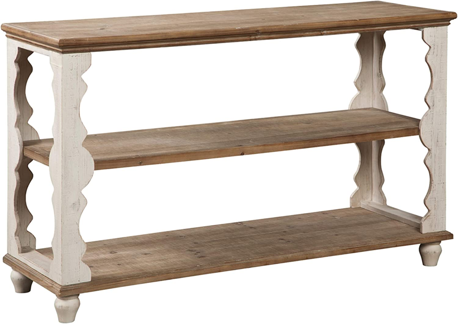 Signature Design By Ashley Alwyndale Console Sofa Table Casual Antique White Brown Furniture Decor