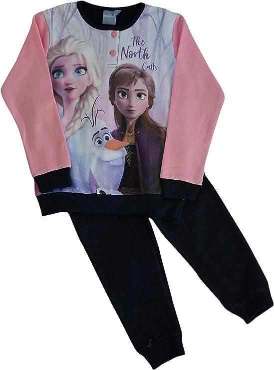 Frozen 1 Queen Elsa Princess Anna Robe FANTAISIE Fille Pyjama Pyjamas Set Soft 7-12yrs