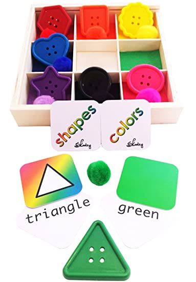 Buy Best Learning Colors And Shapes Wooden Sorting Box Fine Motor Montessori Materials For Toddlers P Online At Low Prices In India Amazon In