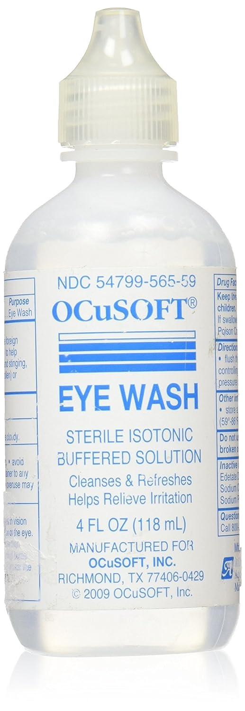 Ocusoft eye wash irrigating solution sterile isotonic buffered 4oz