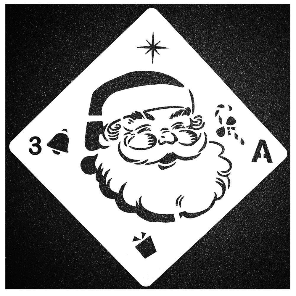 Aolvo Christmas Stencils Xmas 8 Pcs Elk Stencil Merry Small Deer Kit