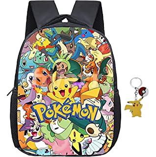 338d9eeea9b2 Mgloe Animated Pokemon School Backpack Ketchum Pikachu Girls Boys Toddler  Bag Kids Book Bags With Free