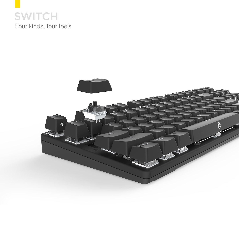 DREVO Tyrfing retroiluminación de 87 botones Edición Teclado de juego mecánico Tenkeyless interruptor Negro / interruptor Azul / interruptor Marrón ...