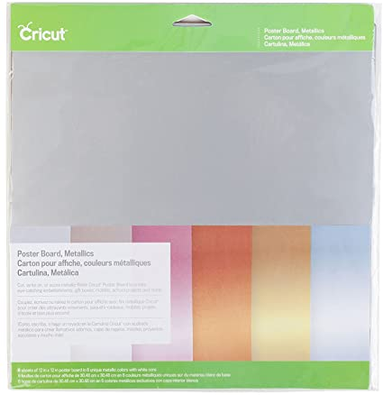 Cricut 2002741 Metallic Poster Board (2 packs)