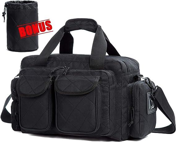 AUMTISC Pistol Range Bag Tactical Shooting Gun Range Bag with Penty of Room for Handguns Lightweight Durable