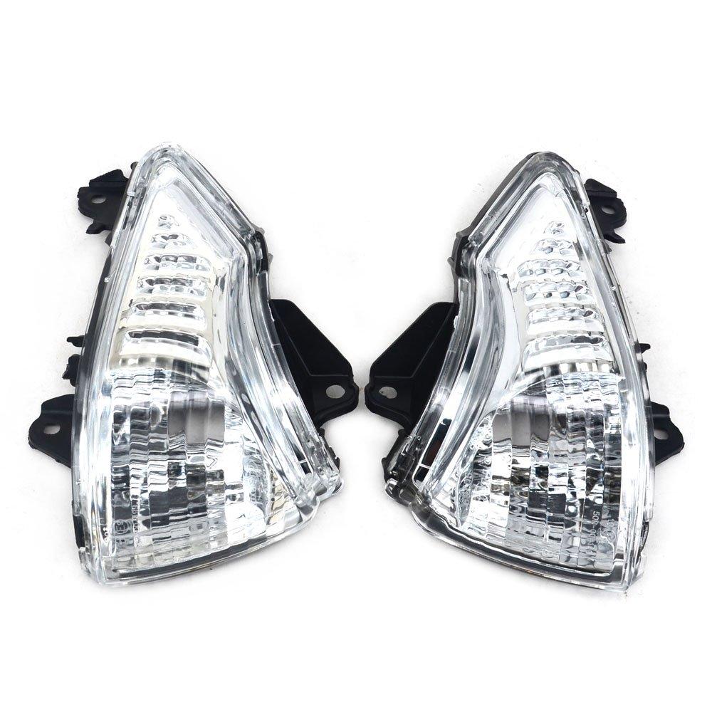 Fast Pro Luz Intermitente Delantera con indicador de luz para Kawasaki ER6N ER6F 2009 – 2011, Color Negro