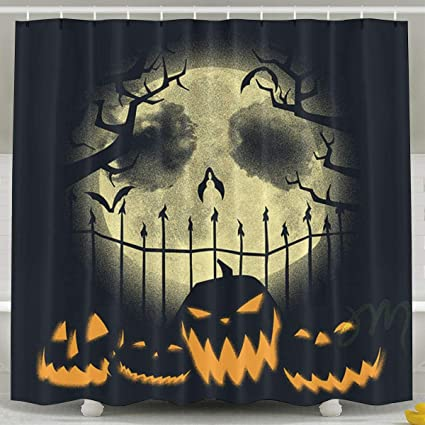 Image Unavailable Not Available For Color FaceTi Decorationative Nightmare Before Christmas Halloween Home Polyester Shower Curtain
