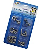 Magicwand Stainless Steel 6 Metallic Intellectual Puzzles For All Age Groups